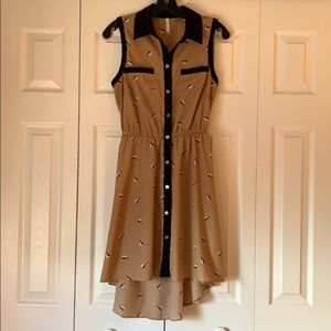 Cute Business Casual High-Low Dress